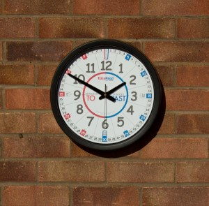 Clock-on-brick