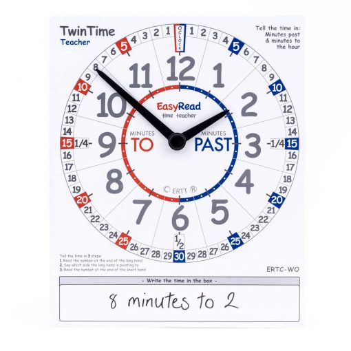 Time teaching demonstration card