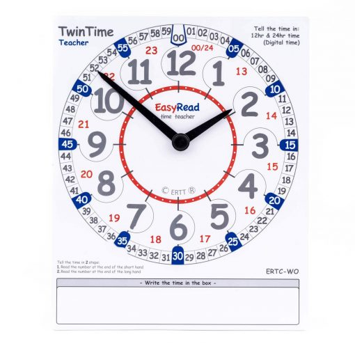 Teacher demonstration card for learning the time