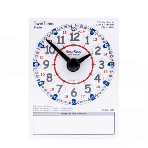 Learning aid for teaching time - student card