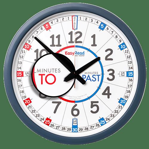 Time teacher classroom wall clock