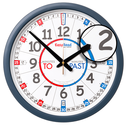 Classroom wall clock for learning the time