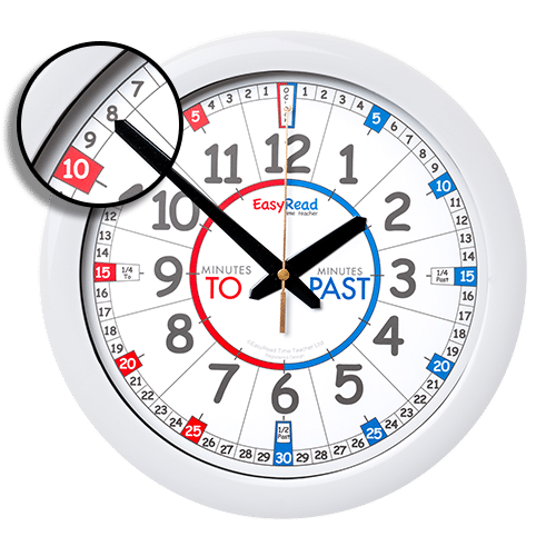 Time teacher wall clock for schools
