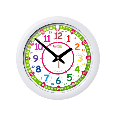 Time Teacher wall clock 12 & 24 hour