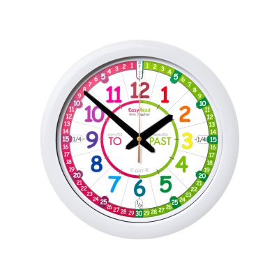 Time teaching wall clock - rainbow face