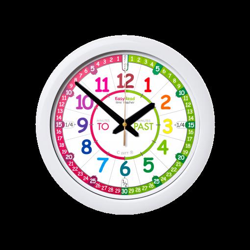 Time teaching wall clock - rainbow face