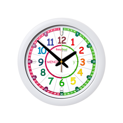Time teaching wall clock - spanish language