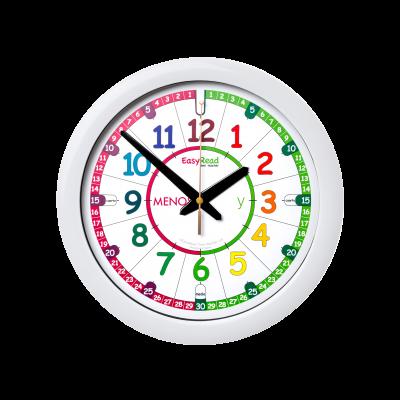 Time teaching wall clock - spanish language