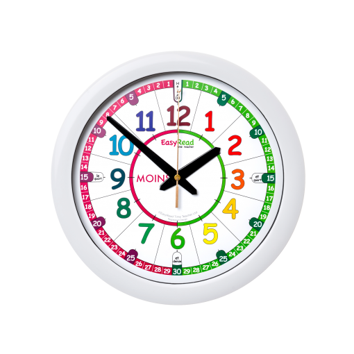 French language time teacher wall clock