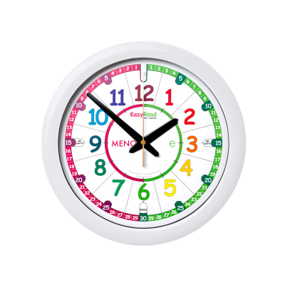 Italian time teaching wall clock