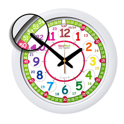 Time teaching wall clock