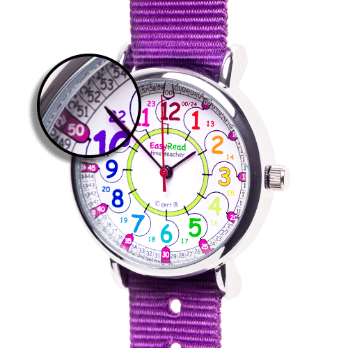 Learn the time children's watch - purple