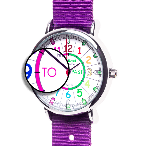 Learning the time watch - purple