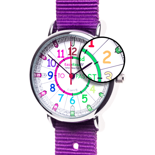 Time teacher watch - purple
