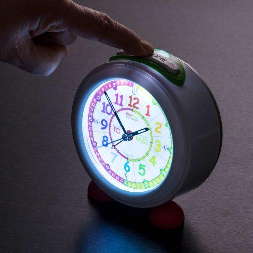 Child's alarm clock illuminated face
