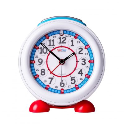 Alarm clock that teaches time