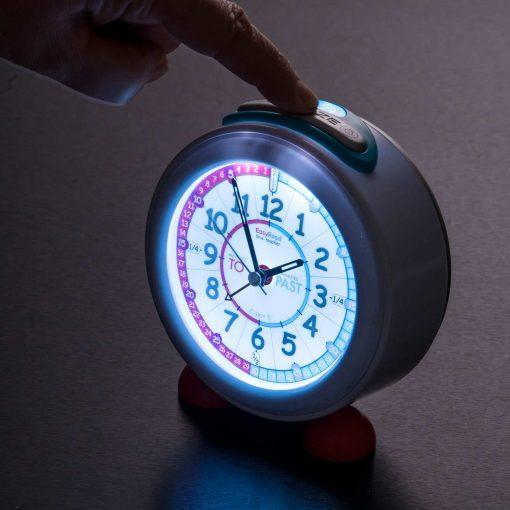 Child's alarm clock illuminated