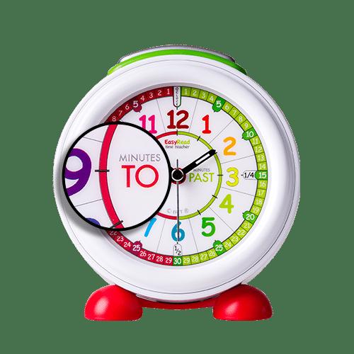 Children's time teaching alarm clock - rainbow face