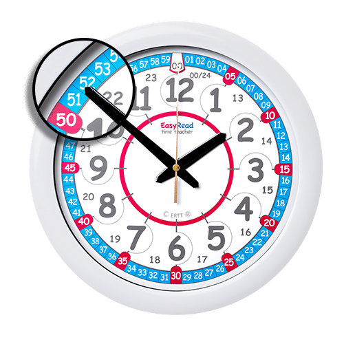 Wall clock for learning the time