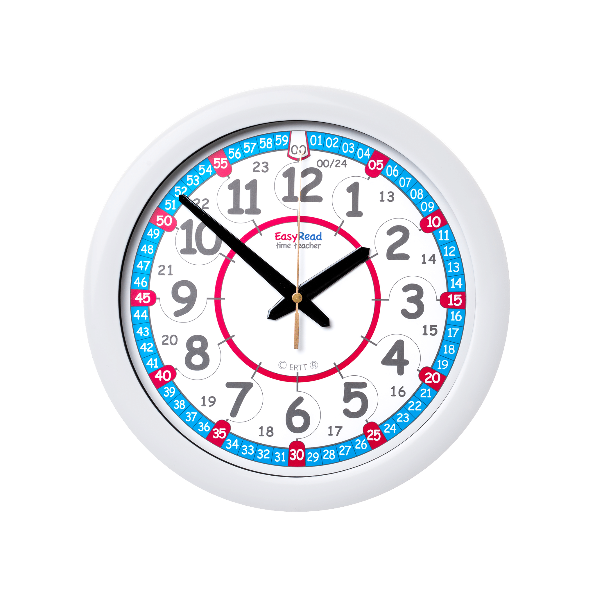 Red And Blue Face Time Teaching Clock Ertt Wall Clocks