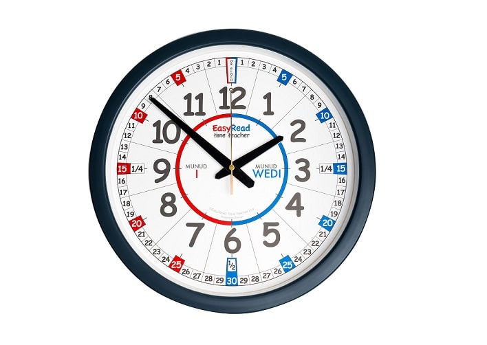 Welsh Language Time Teaching Clocks Now in Stock