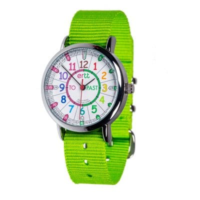lime wrist watch