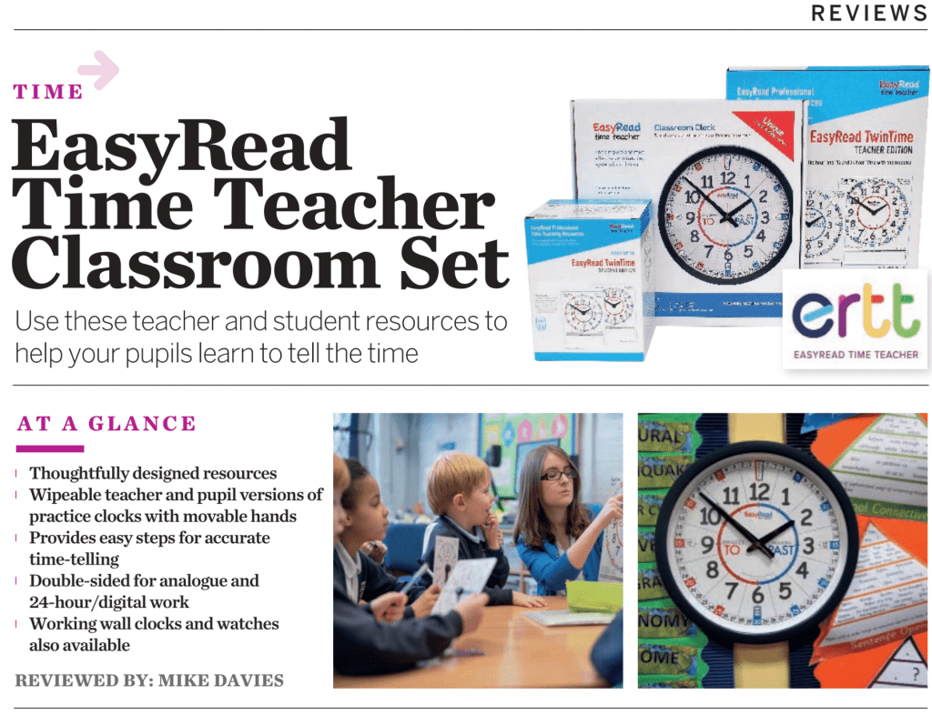 Teach Primary review of EasyRead Time Teacher classroom set